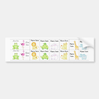 Zoo animals sippy cup labels