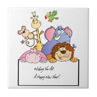 Zoo Animals Small Square Tile