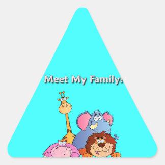 Zoo Animals Triangle Sticker