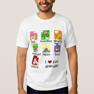 Zoo Animals Tshirts and Gifts