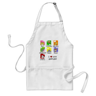 Zoo Animals Tshirts and Gifts Adult Apron
