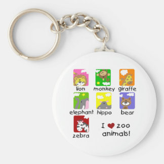 Zoo Animals Tshirts and Gifts Basic Round Button Keychain