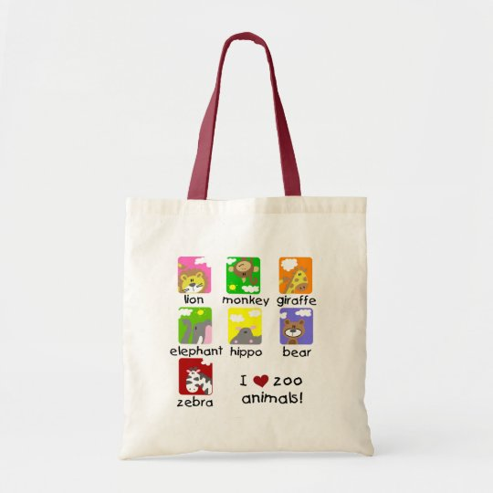 Zoo Animals Tshirts and Gifts Tote Bag