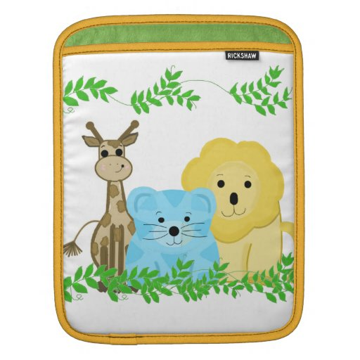Zoo Animals with Vines Sleeve For iPads