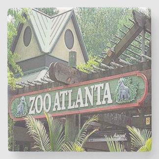 Zoo Atlanta Landmark Marble Stone Coaster. Stone Coaster