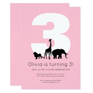 Zoo birthday invitation