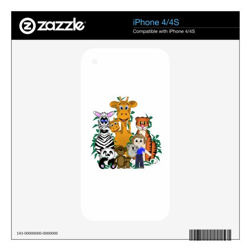 ZOO Boy Skins For The iPhone 4