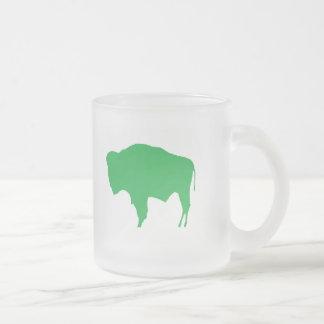 Zoo BUFFALO Frosted Glass Coffee Mug