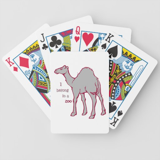 Zoo Camel Bicycle Playing Cards