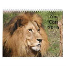 Zoo Cats 2016 Calendar at Zazzle