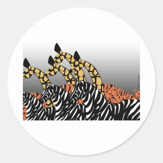 Zoo Classic Round Sticker