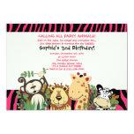 ZOO CREW 5x7 Trendy Zebra Stripe Jungle Party Card