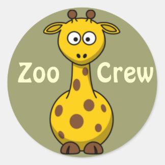 Zoo Crew Giraffe Round Stickers