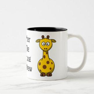 Zoo Crew Giraffe Two-Tone Coffee Mug