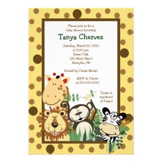 ZOO CREW Jungle Safari Baby Shower 5x7 Personalized Invite