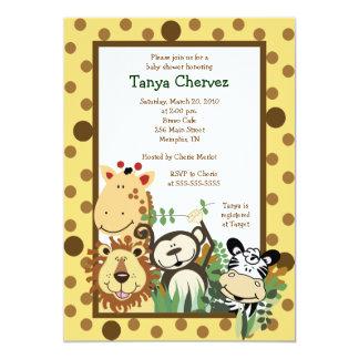 ZOO CREW Jungle Safari Baby Shower 5x7 5x7 Paper Invitation Card