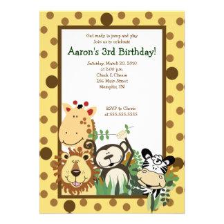 ZOO CREW Jungle Safari BIRTHDAY INVITE 5x7