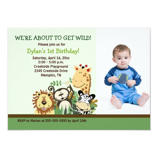 Zoo Crew Jungle Safari *PHOTO* Birthday 5x7 Card