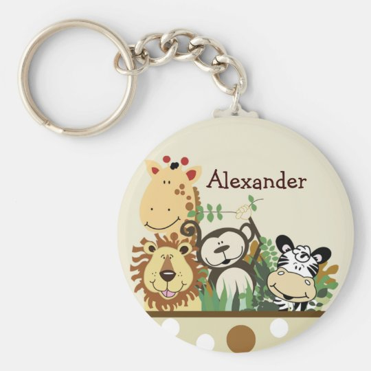 ZOO CREW (Tan) Favor or Name Tag Keychain