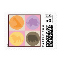 Zoo Dot-ette Postage Stamp