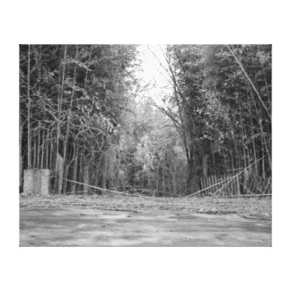 Zoo Entrance in Black and White Canvas Print