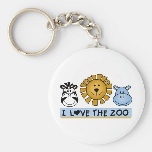 Zoo Friends T-shirts and Gifts Keychain