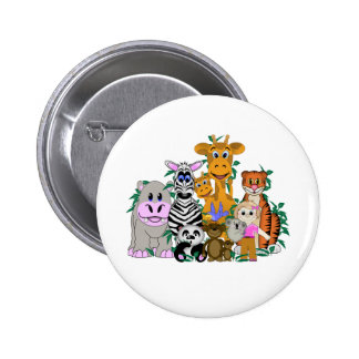 ZOO Girl 2 Inch Round Button