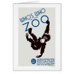 Zoo Guide Monkey 1937 WPA Card