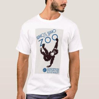 Zoo Guide Monkey 1937 WPA T-Shirt