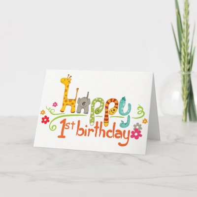 Korean Babys First Birthday Card Zazzle