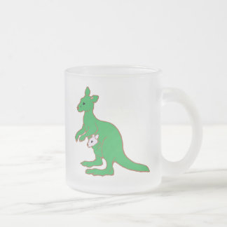Zoo KANGAROO Frosted Glass Coffee Mug