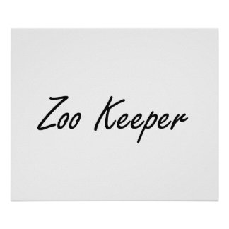 Zoo Keeper Artistic Job Design Poster