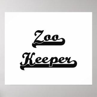 Zoo Keeper Classic Job Design Poster