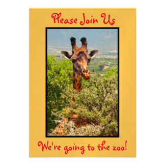 Zoo Party! Adorable Giraffe in the Trees Card