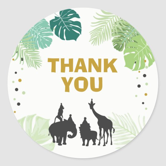 Zoo Party Favor Tags Safari Thank You Tags Jungle Zazzle Com