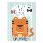 Zoo Party themed Birthday Invitation! Card