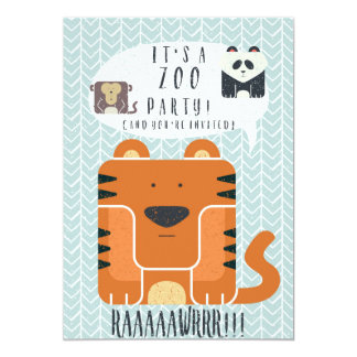 Zoo birthday party invitations announcements zazzle zoo party themed birthday invitation card stopboris Gallery