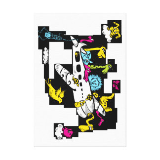 Zoo Plane Gallery Wrapped Canvas