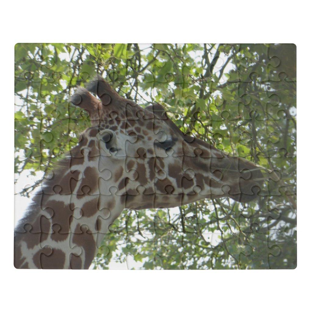 Zoo Puzzle: Cute Giraffe Face Jigsaw Puzzle