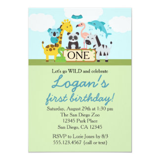 Zoo Birthday Party Invitations Announcements Zazzle