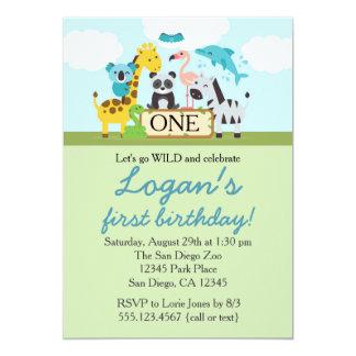 Zoo Safari Birthday Party Invitation