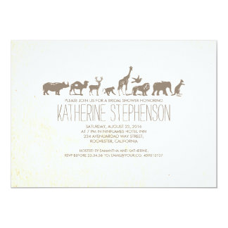 Zoo Safari Bridal Shower Invitation