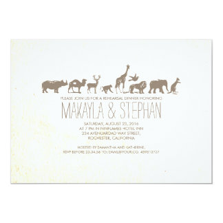 Zoo Safari Rehearsal Dinner Invitation
