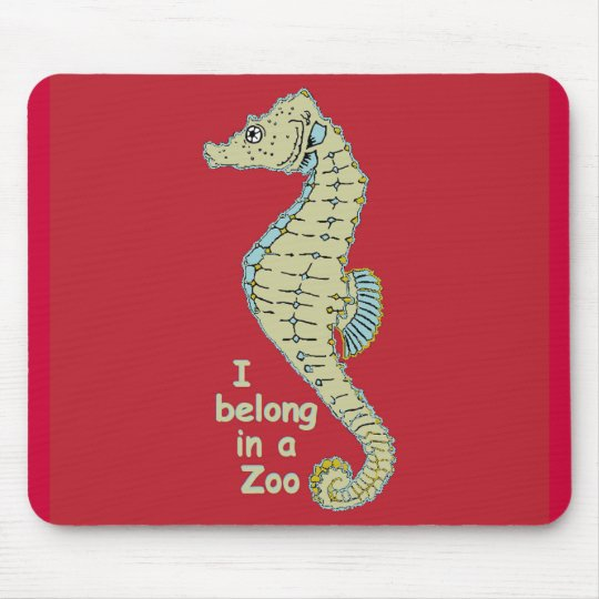 Zoo Seahorse Mouse Pad
