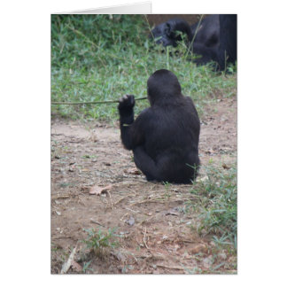 Zoo Series, Meditating Monkey, Get your calm on... Card