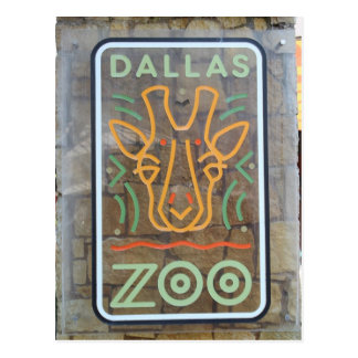 Zoo Sign Postcard