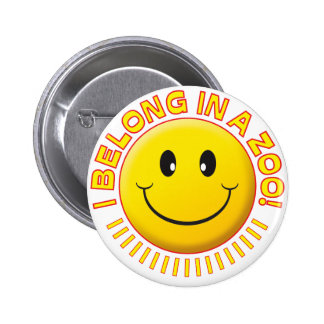 Zoo Smiley 2 Inch Round Button