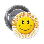 Zoo Smiley Pinback Button