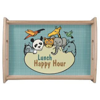 zoo-themed lunch happy hour serving tray