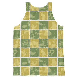 zoo themed pattern All-Over print tank top